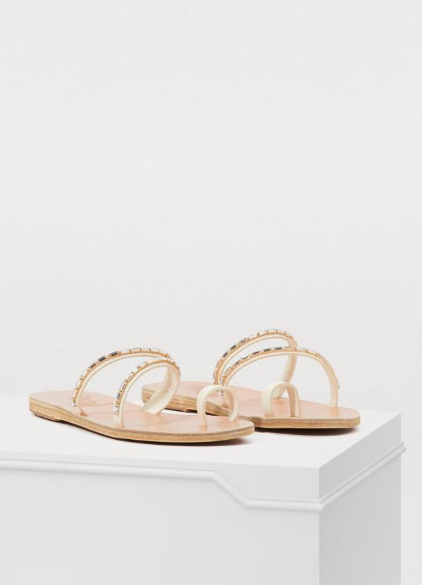 b10ecbb5b Ancient Greek Sandals Apli Katia Diamonds Sandals In Off-White ...