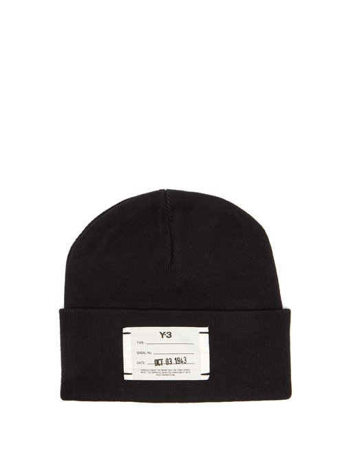 92808c17574e Y-3 Logo-Label Ribbed Cotton Beanie Hat In Black