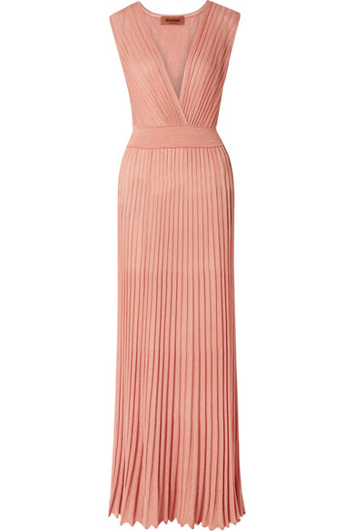 b92f0dc32a0 Missoni Mare Pleated Lurex Maxi Dress In Antique Rose