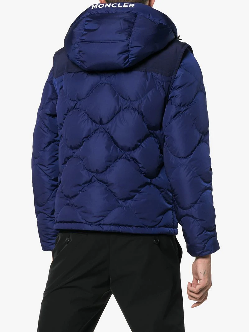 286c5d15c Moncler Arles Quilted Shell Hooded Down Jacket With Detachable ...