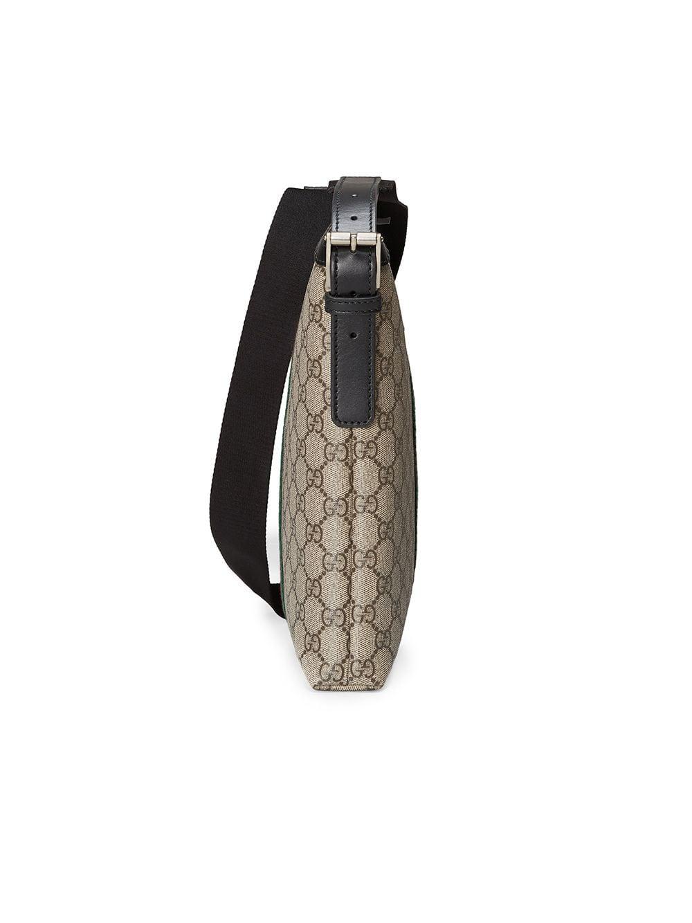 aefd0a32604f Gucci  Web Gg Supreme  Messenger Bag In Brown