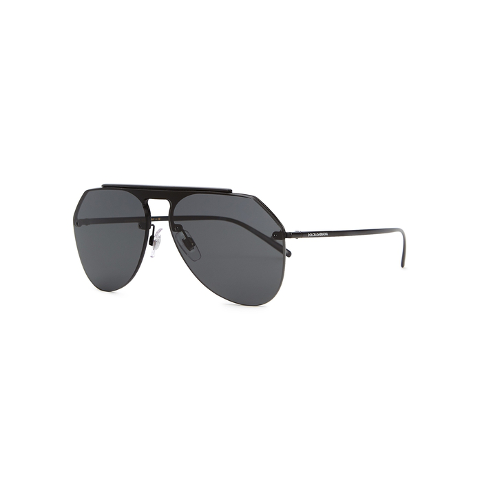 d5af4839f58 Dolce   Gabbana Dolce  Amp  Gabbana 34 Black Matte Pilot Sunglasses - Dg2213