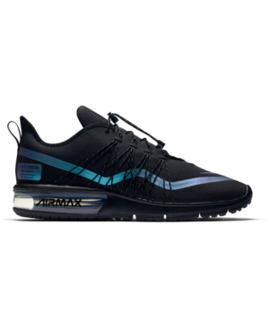 premium selection 5a9d9 2e868 Nike Men s Air Max Sequent 4 Shield Running Sneakers From Finish Line In  Black Racer