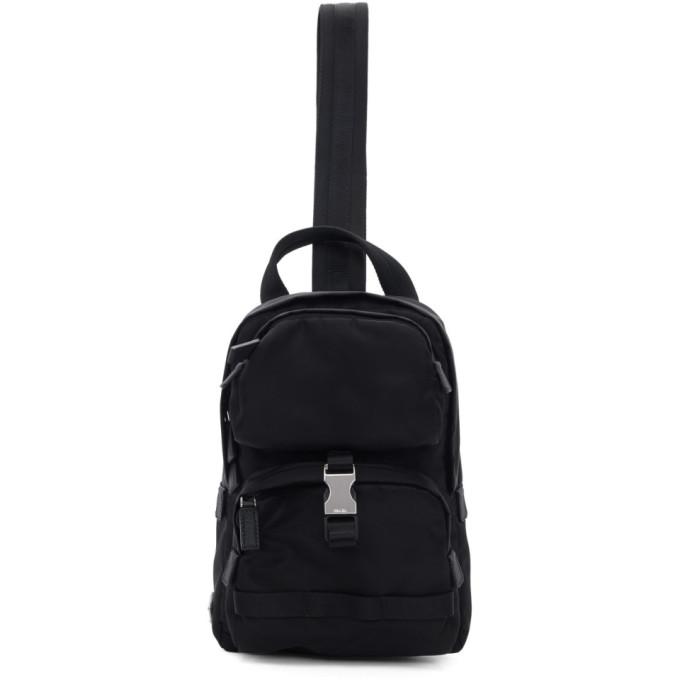 29b8a7c0be41 Prada Black Nylon Mountain Messenger Bag In F0002 Nero | ModeSens