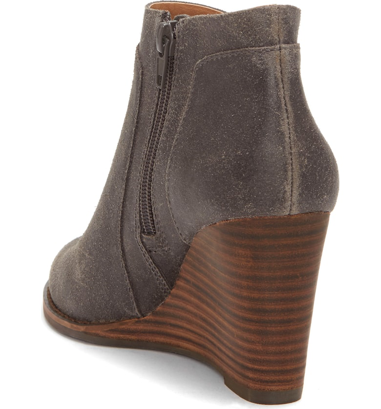 33a3c300f09e Lucky Brand Yabba Wedge Bootie In Storm Nubuck