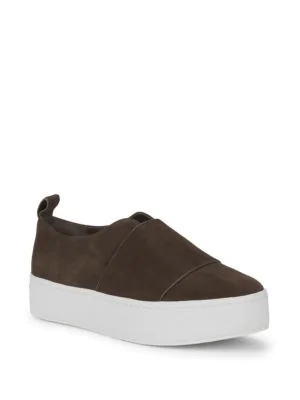 00fcc54fdb6 Vince Wallace Platform Slip-On Sneakers In Olive