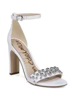7fca32000a2 Sam Edelman Yoshi Studded Leather Heels In White
