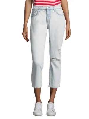 392cc8f93b264e Current Elliott Current/Elliott The Cropped Straight-Leg Jeans In Channon  Destroy In Channon