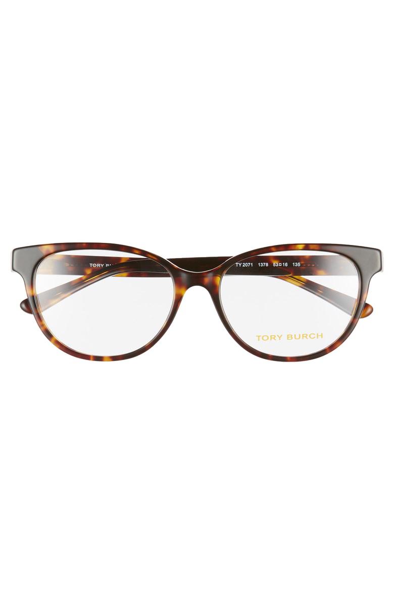 4fc05c1c41bc Tory Burch 53Mm Optical Glasses - Dark Tortoise | ModeSens
