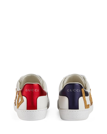 Gucci Low-Top Sneakers New Sneaker Ace Love  Calfskin Logo White