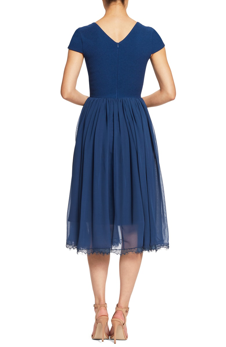 51c2a63ae42a Dress The Population Corey Chiffon Fit   Flare Dress In Pacific ...