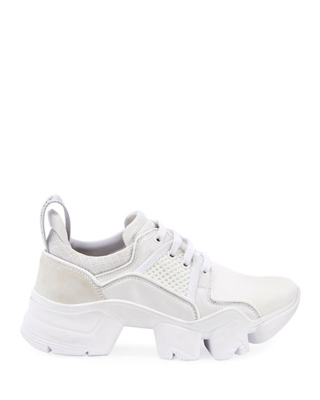 Givenchy Jaw Mesh And Suede-Trimmed Leather, Neoprene And Rubber Sneakers In White