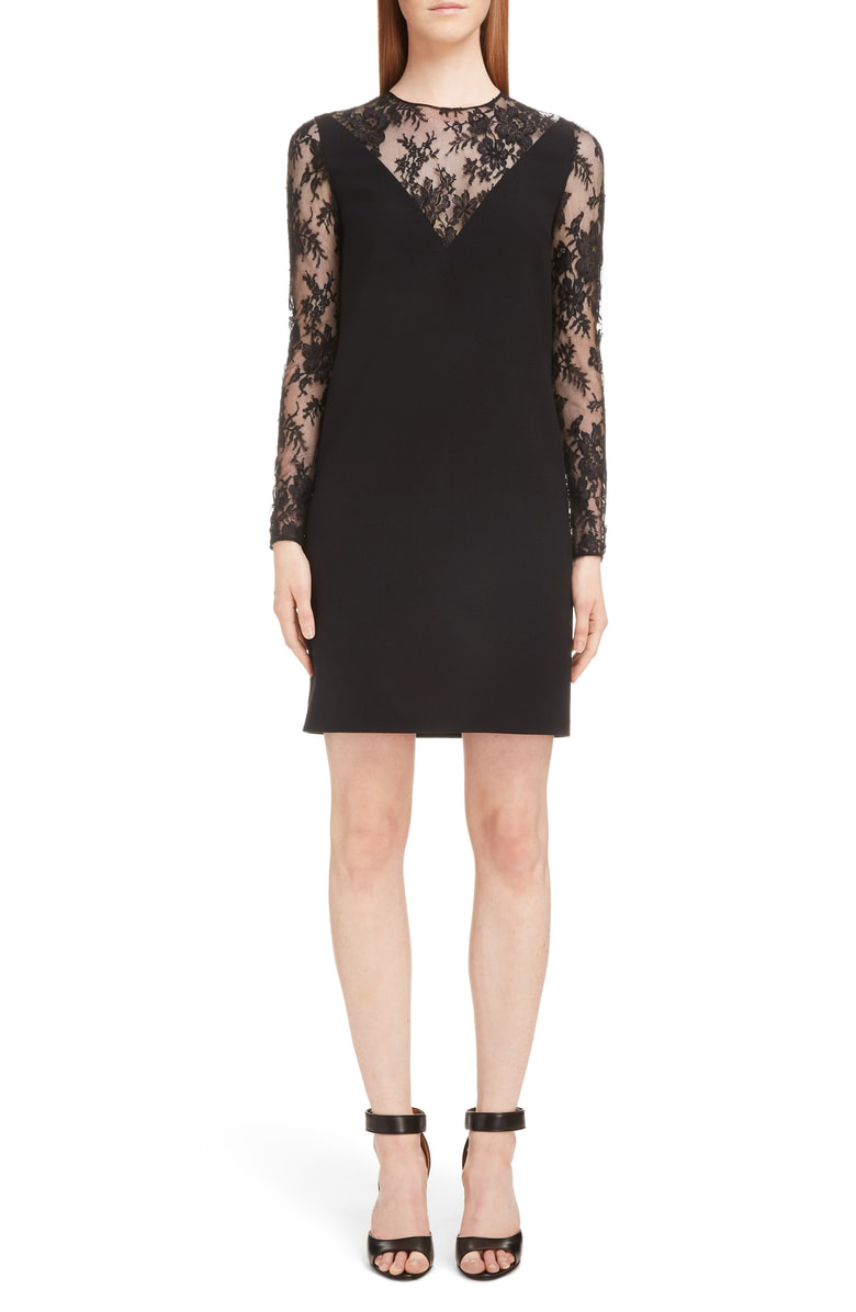 5ef5ec62cb14 Givenchy Lace-Inset V-Illusion Mini Dress In Black   ModeSens
