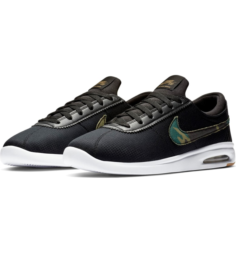 4c9890a52d3 Nike Sb Air Max Bruin Vapor Txt Skateboarding Sneaker In Black  Multi  White