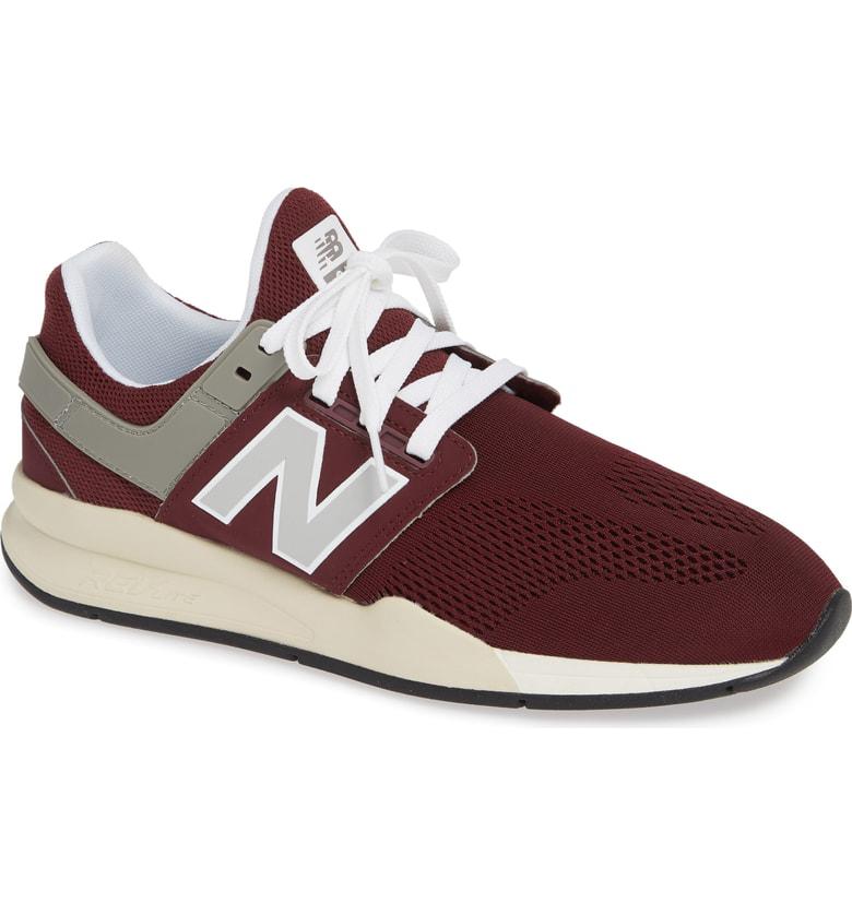 New Balance 247 Sneaker In Nb Burgundy Mesh/ Suede   ModeSens