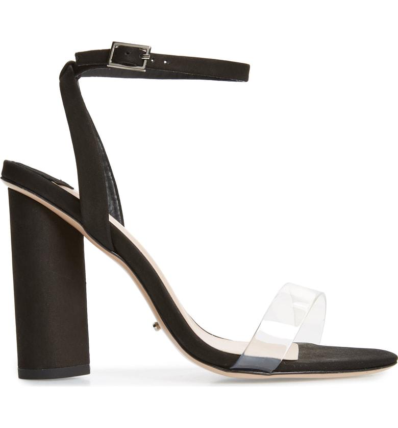 e356b09ff6d Tommi Round Heel Sandal in Black Phoenix/ Clear Vynalite
