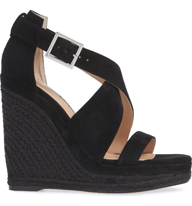 376b3e3bf39 Esper Suede Wedge Espadrille Sandals in Black