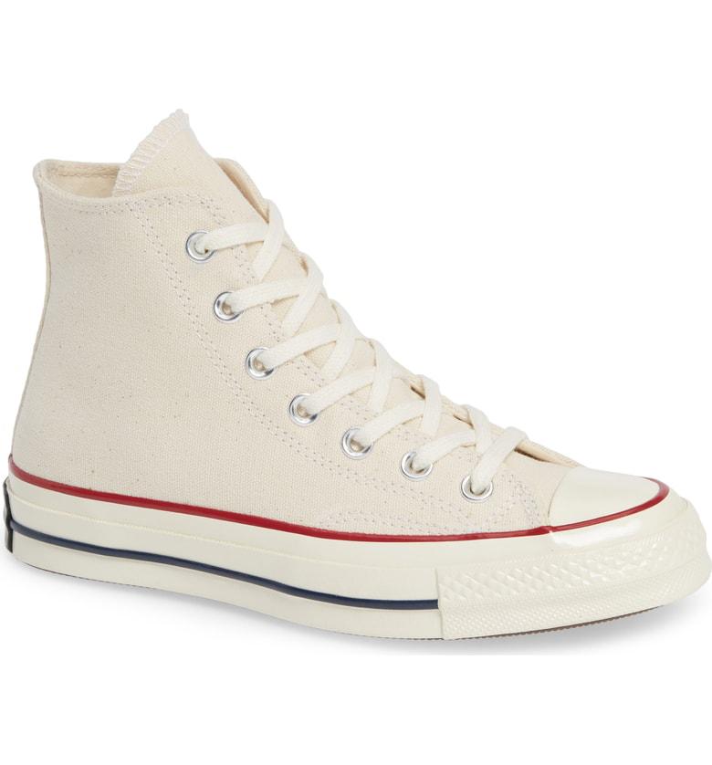 f3b2da4c6dad CONVERSE. Chuck Taylor All Star Chuck 70 High Top Sneaker in Parchment   Garnet  Egret