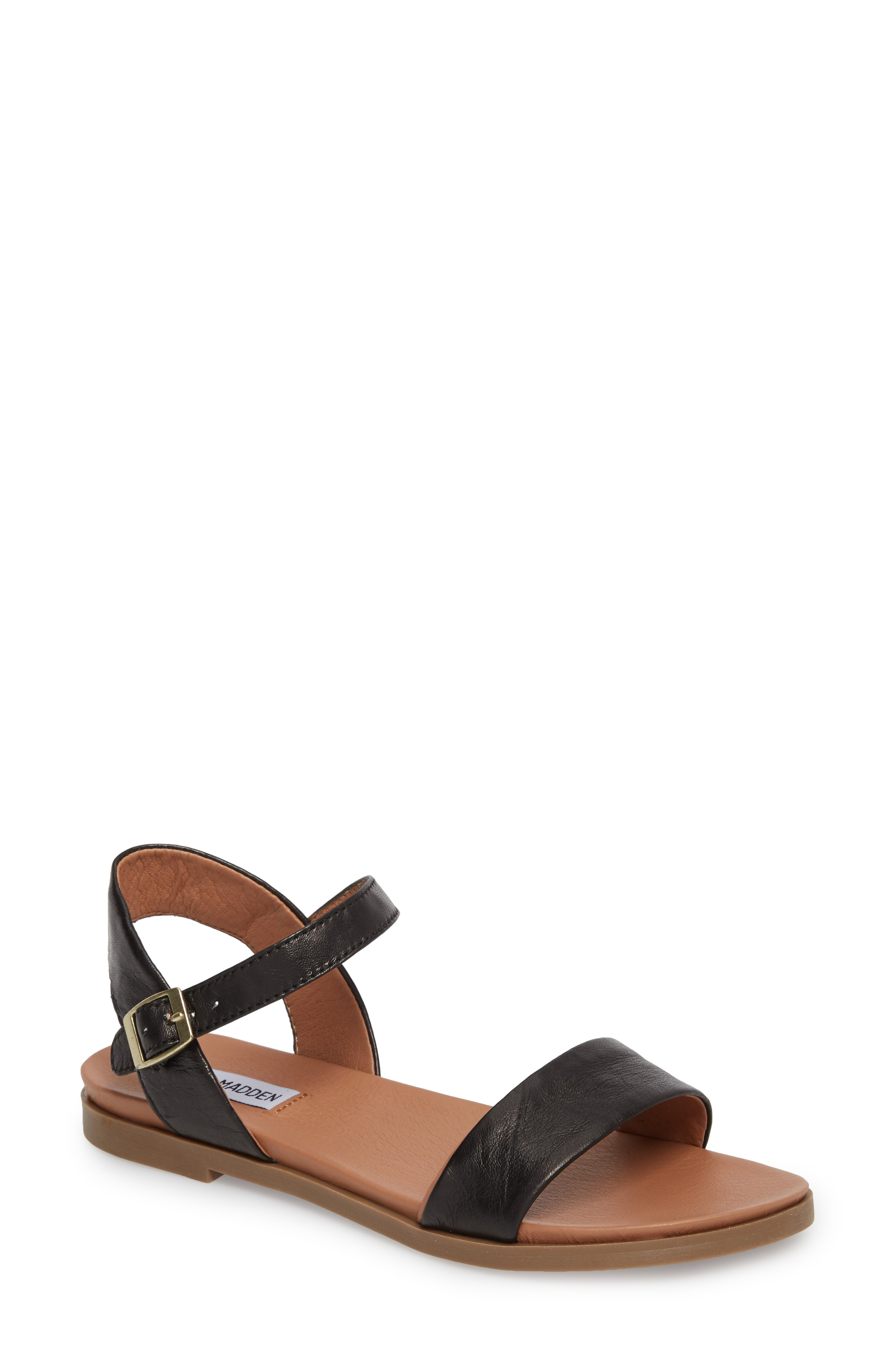 eb580a85170 Dina Sandal in Black Leather
