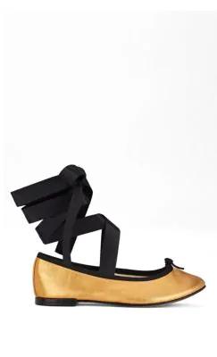 e5283e492cd Repetto Cendrillon Metallic Leather Ballet Flats In Gold