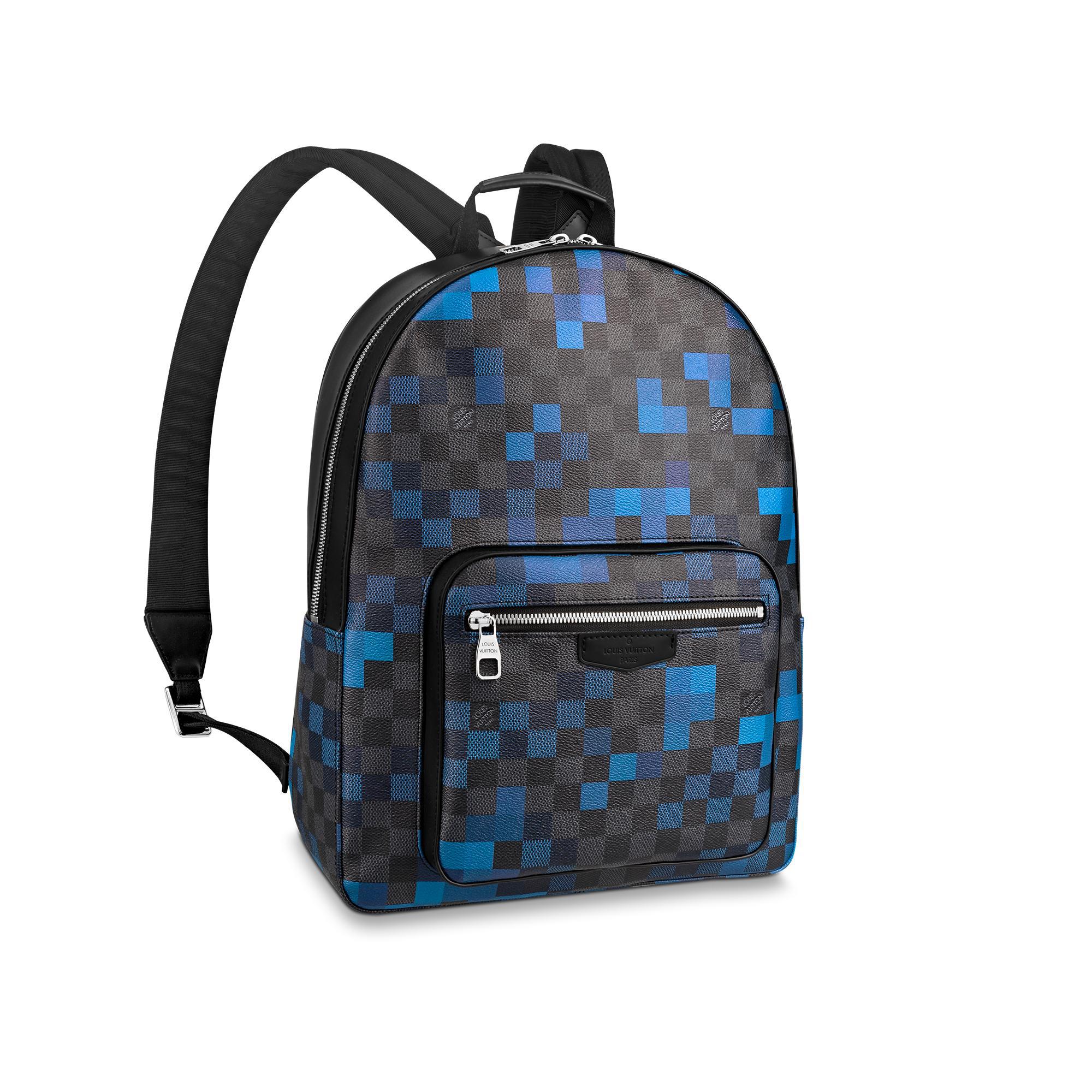 Louis Vuitton Backpack Josh Damier Graphite Pixel Bleu