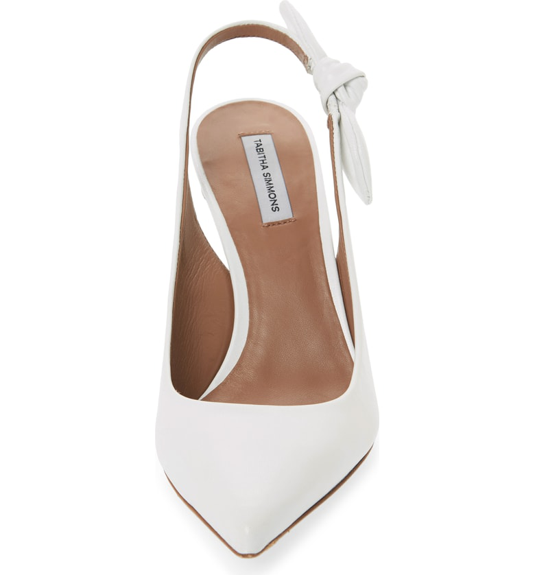 011b562a64c Tabitha Simmons Millie Leather Slingback Pumps In White