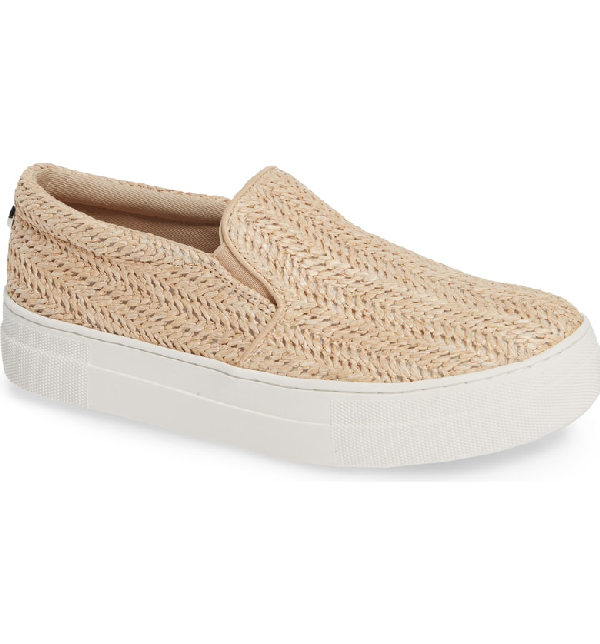 573d153cb6c Gills Platform Slip-On Sneaker in Natural Raffia