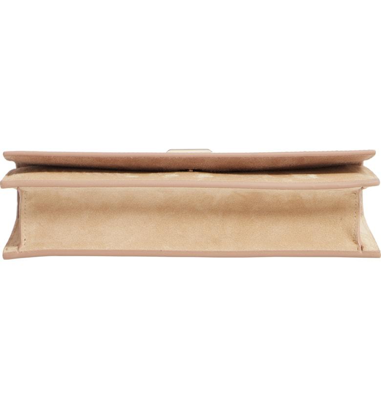 3e68c9b8eff Jimmy Choo Lizzie Patent Leather & Suede Clutch - Beige In Nude ...