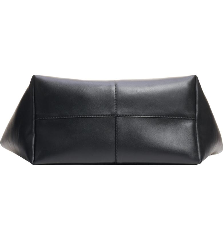 5f88fd4b1fff Versace Calf Leather Bucket Bag With Barocco Scarf In Black
