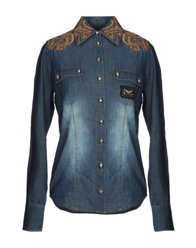 e7140c8ef0 Philipp Plein Denim Shirts In Blue