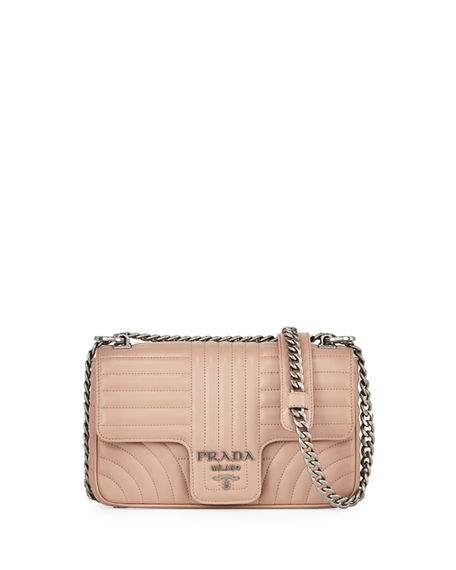66f2107ebf20 Prada Small Quilted Shoulder Bag In Light Pink