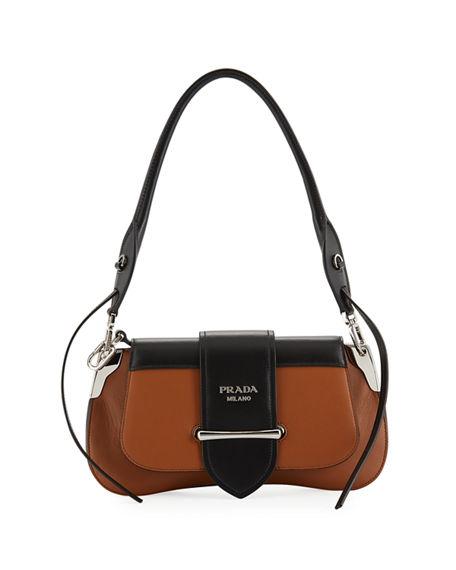 bcd28a35348a Prada Sidonie Shoulder Bag, Brown/Black | ModeSens