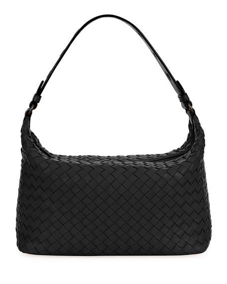 f7971567d7c64 Bottega Veneta Ciambrino Leather Shoulder Bag - Black In Nero/ Brunito
