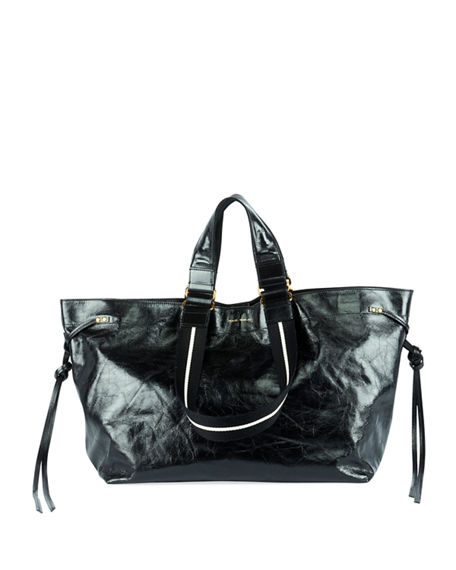 7f0380d94e Isabel Marant Wardy Iconic Leather Shopper Tote Bag In Black | ModeSens