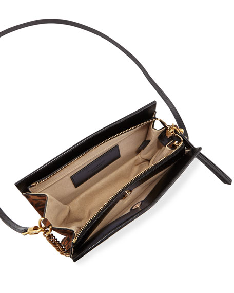 a8dc61b2f11b9 Givenchy Givechy Cross3 Bag In Grained Leather And Suede In Black ...