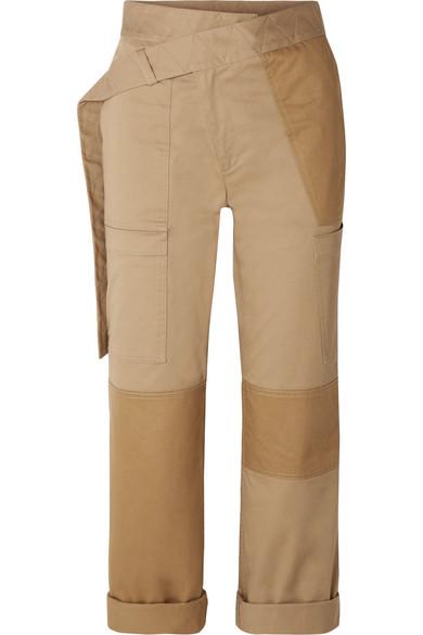 aa18f106431 Monse Patchwork Khaki Straight-Leg Cargo Pants In Beige