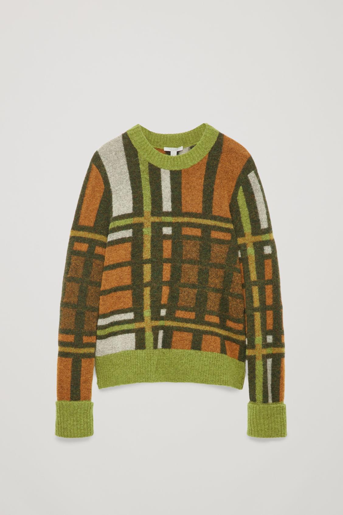 6513aa464a5b Cos Alpaca-Wool Colour-Block Jumper In Orange | ModeSens