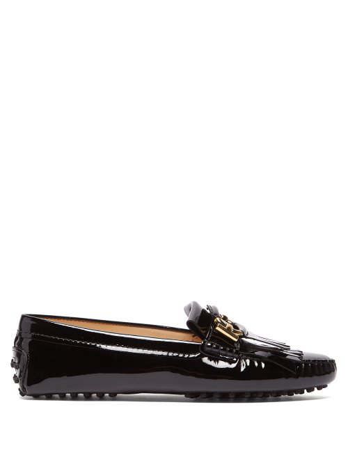 4d8a1157ea5 Tod's Gommino Patent-Leather Loafers In Black | ModeSens