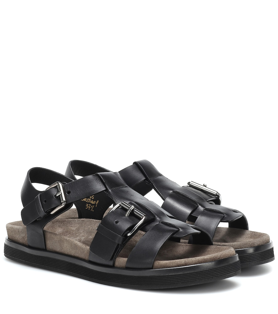 4548262cfcd2 Church s Britney Leather Sandals In Black