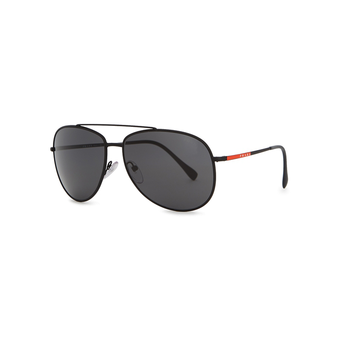 d0dcfbb5e Prada Linea Rossa Black Aviator-Style Sunglasses. Harvey Nichols