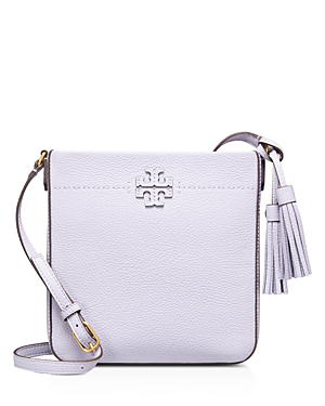 694f48002b15 Tory Burch Mcgraw Leather Swingpack In Pale Violet Gold