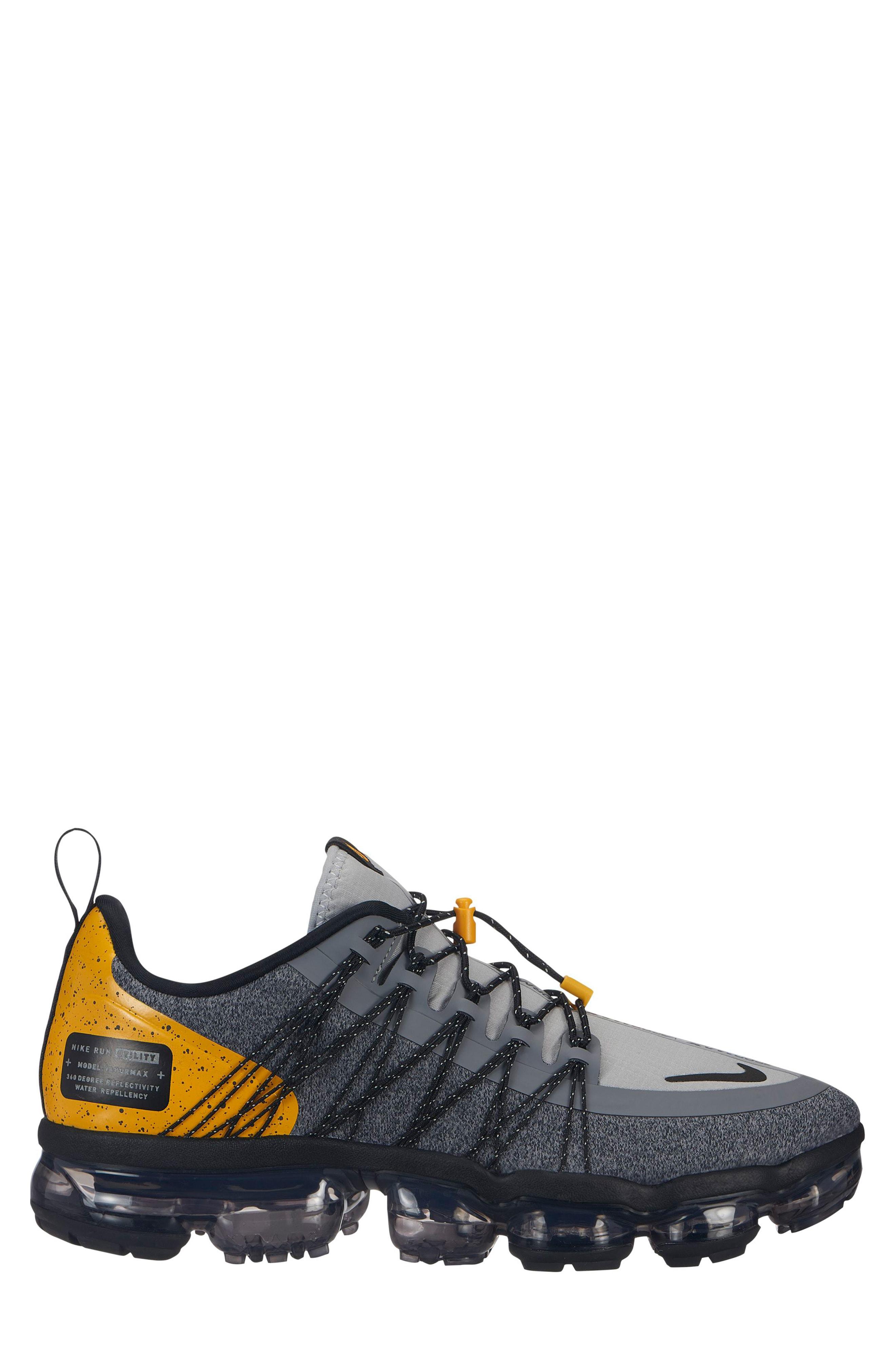 b99e221e9730 Nike Air Vapormax Run Utility Sneaker In Grey  Black  Amarillo  Grey .