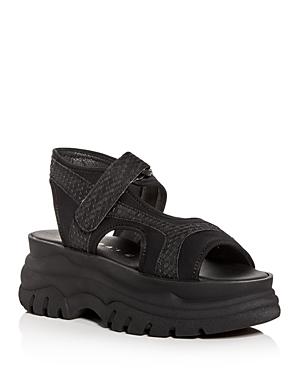 20525a34801d Joshua Sanders Women s Fuxia Spice Platform Sandals In Black
