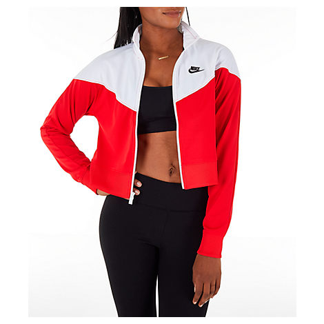 Nike Women S Sportswear Crop Heritage Track Jacket 61a7f7654