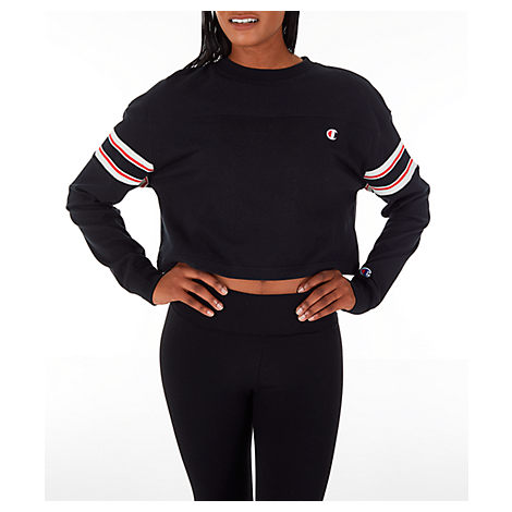 f689e1a835 Champion Cotton Colorblocked Cropped T-Shirt In Black | ModeSens