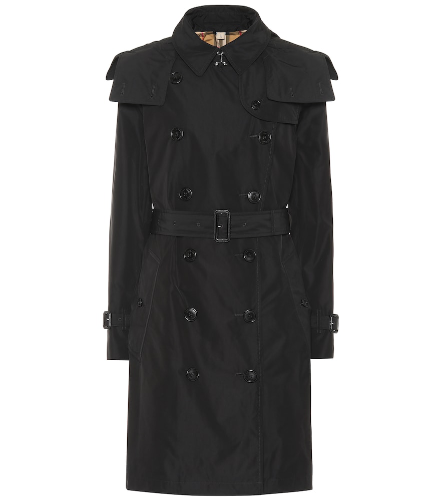 a2e355522ef2 Burberry Kensington Double-Breasted Trench Coat W  Detachable Hood In Black