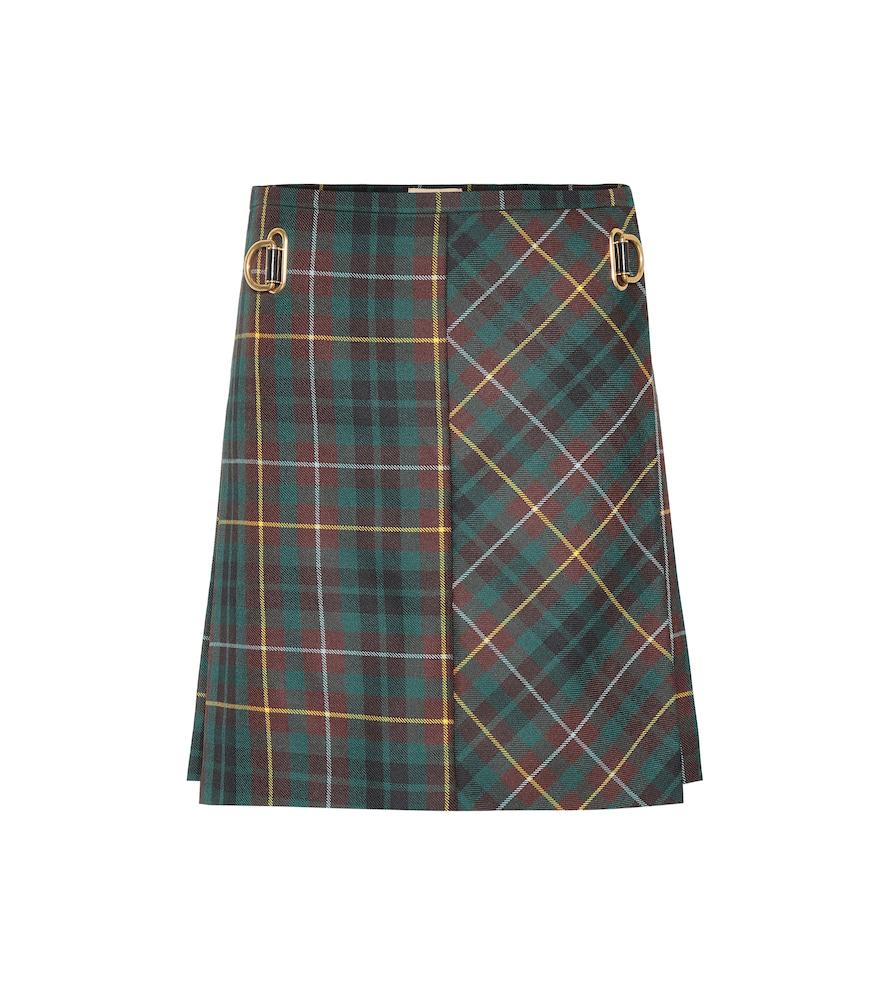 86f3a9275 Green Plaid Pleated Mini Skirt | Saddha