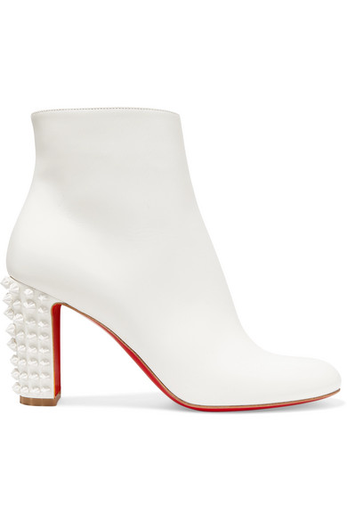 newest d0967 4bf0e Suzi Folk 85 Spiked Leather Ankle Boots in White