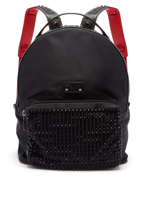 Christian Louboutin Backloubi Leather-Trimmed Backpack - Black