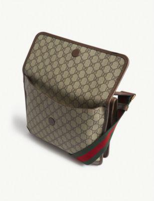 87e98403620 Gucci Vintage Supreme Canvas Shoulder Bag In Gg Supreme